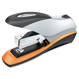 Swingline Optima Desktop Staplers Half Strip 70-Sheet Capacity Silver/Black/Orange