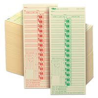 TOPS Time Card for Lathem Bi-Weekly Two-Sided 3 1/2 x 9 500/Box