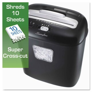 Swingline EX10-05 Super Cross-Cut Shredder 10 Sheets 1 User