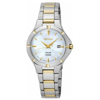 Seiko Solar SUT294P1 Women's Mother of Pearl Dial Watch