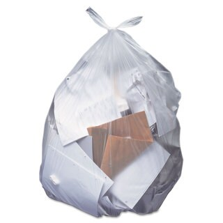 Heritage Low-Density Can Liners 40-45 gal 1.5 mil 40 x 46 Clear 100/Carton