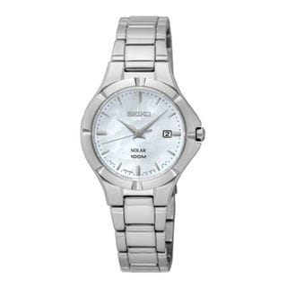 Seiko Solar SUT293P1 Women's Mother of Pearl Dial Watch