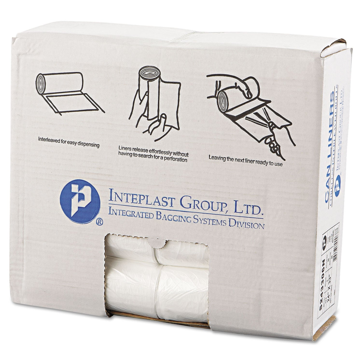 Inteplast Group High-Density Can Liner 24 x 33 16gal 6mic...