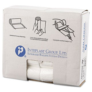 Inteplast Group High-Density Can Liner 24 x 33 16gal 6mic Clear 50/Roll 20 Rolls/Carton