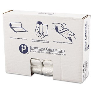 Inteplast Group High-Density Can Liner 30 x 37 30gal 10mic Clear 25/Roll 20 Rolls/Carton