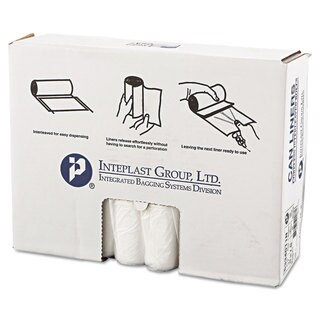 Inteplast Group High-Density Can Liner 33 x 40 33gal 11mic Clear 25/Roll 20 Rolls/Carton