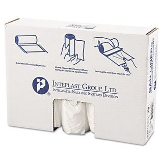 Inteplast Group High-Density Can Liner 40 x 48 45gal 12mic Clear 25/Roll 10 Rolls/Carton