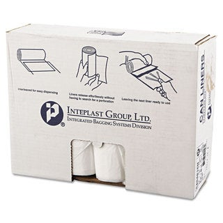 Inteplast Group High-Density Can Liner 40 x 48 45gal 16mic Clear 25/Roll 10 Rolls/Carton
