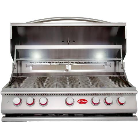 Cal Flame Built In Grill P5 5-Burner Lp Only No Conversion Kit - Silver
