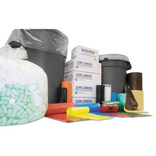 Inteplast Group Institutional Low-Density Can Liners 56 gal 1.4 mil 43 x 47 Black 100/Carton