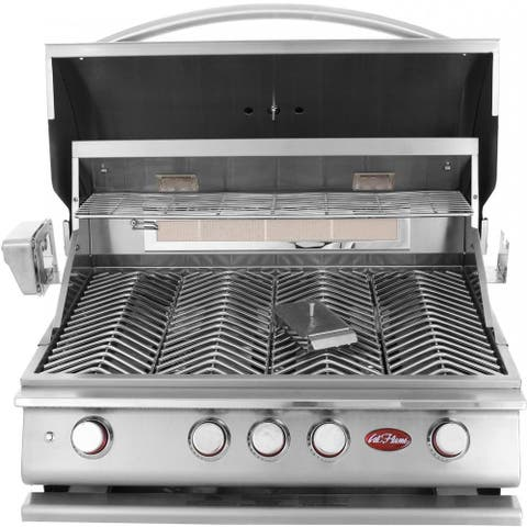 Cal Flame Built In Grill P4 4-Burner Lp Only No Conversion Kit - Silver