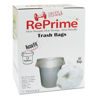 RePrime Can Liners 23gal 0.9mil Clear 28-inch x 45-inch 50/Box 6 Boxes/Carton