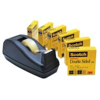 Scotch 665 Double-Sided Permanent Tape with C40 Dispenser 1/2-inch x 900-inch Clear 6/Pack