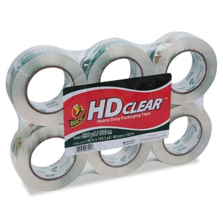 Duck Heavy-Duty Carton Packaging Tape 1.88 inches x 110 yards Clear 6/Pack