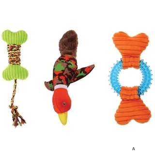 Animal Planet Assorted Pet Toys for Small and Medium Dogs (Pack of 3)