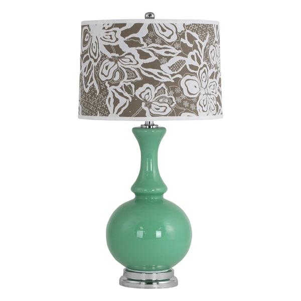 Nabila Green Glass Table Lamp