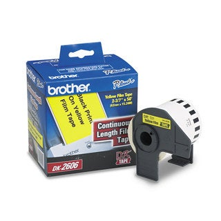 Brother Continuous Film Label Tape 2-3/7-inch x 50ft Roll Yellow