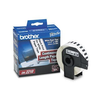Brother Continuous Paper Label Tape 1.1-inch x 100ft Roll White