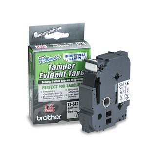 Brother P-Touch TZ Security Tape Cartridge for P-Touch Labelers 3/4w Black on White