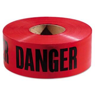 Empire Danger Barricade Tape 3 inches x 1000 ft Red/Black 8 Rolls/Carton