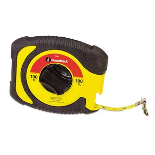 Great Neck English Rule Measuring Tape 3/8-inch x 100ft Steel Yellow