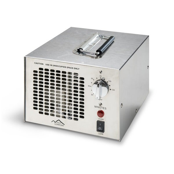 New Comfort SS-700 Commercial-Grade Stainless Steel Air Purifier Cleaner Ozone Generator with UV Bulb - Silver