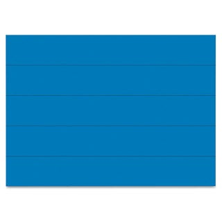 MasterVision Dry Erase Magnetic Tape Strips Blue 6-inch x 7/8-inch 25/Pack