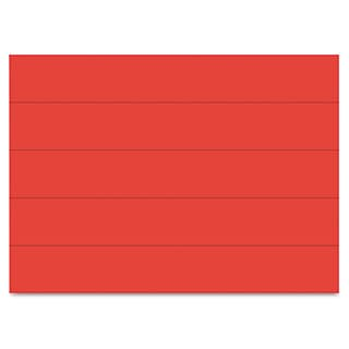 MasterVision Dry Erase Magnetic Tape Strips Red 6 inches x 7/8 inches 25/Pack