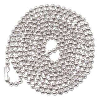 Advantus ID Badge Holder Chain Ball Chain Style 36-inch Long Nickel Plated 100/Box