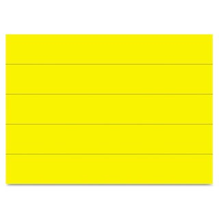 MasterVision Dry Erase Magnetic Tape Strips Yellow 6 inches x 7/8 inches 25/Pack