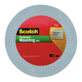 Scotch Double-Coated Foam Tape 1/2-inch x 36 yards 1-inch Core White
