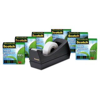 Scotch Magic Greener Tape with C38 Dispenser 3/4 inches x 900 inches 6/Pack