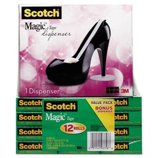 Scotch Magic Tape Designer Dispenser Value Pack High-Heel Shoe 3/4-inchx1000-inch 12 Roll/Pack