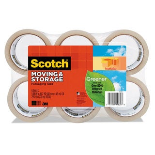 Scotch Moving & Storage Tape 1.88-inch x 49.2 yards 3-inch Core Clear 6/Pack