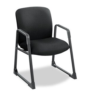 Safco Uber Series Big & Tall Sled Base Guest Chair Black