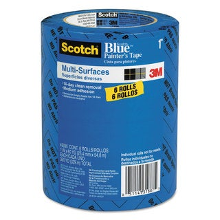 Scotch Painter's Tape .94-inch x 60yards 3-inch Core Blue 6/Pack
