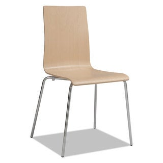 Safco Bosk Stack Chair Beech 2/Carton