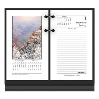 AT-A-GLANCE Photographic Desk Calendar Refill 3 1/2 x 6 2017