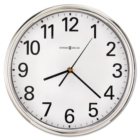 Howard Miller Hamilton Transitional, Modern and Contemporary, and Classic, Gallery Wall Clock with Large Numbers, Reloj De Pared