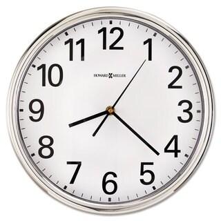 Howard Miller Hamilton Wall Clock 12-inch Silver 1 AA