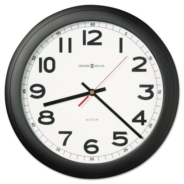 Howard Miller Norcross Auto Daylight-Savings Wall Clock 15-3/4-inch Black 1 AA