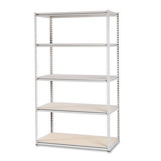 Tennsco Stur-D-Stor Shelving Five-Shelf 48-inch wide x 24-inch deep x 84h Sand|https://ak1.ostkcdn.com/images/products/13866583/P20506867.jpg?impolicy=medium