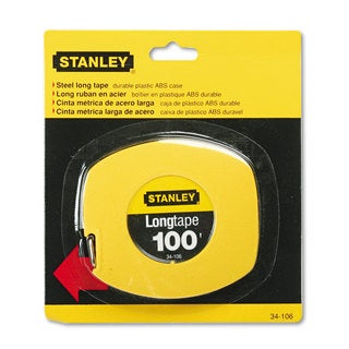 Stanley Long Tape Measure 1/8-inch Graduations 100ft Yellow