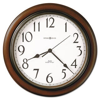 Howard Miller Talon Auto Daylight-Savings Wall Clock 15 1/4-inch Cherry