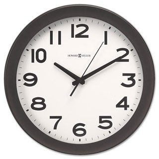 Howard Miller Kenwick Wall Clock 13-1/2 inches Black