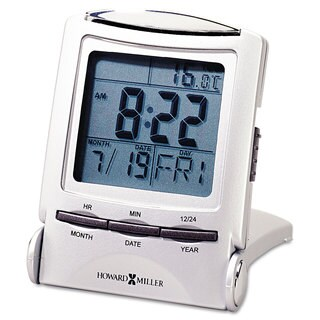 Howard Miller Distant Time Traveler Alarm Clock 2-1/4-inch Silver 1 AAA (included)