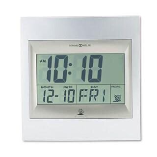 Howard Miller TechTime II Radio-Controlled LCD Wall/Table Alarm Clock - 8.75 x 1 x 9.25