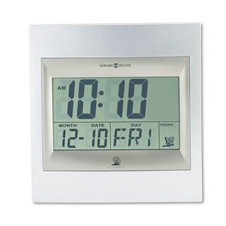 Howard Miller TechTime II Radio-Controlled LCD Wall/Table Alarm Clock 8-3/4-inch wide x 1-inch deep x 9-1/4-inch high