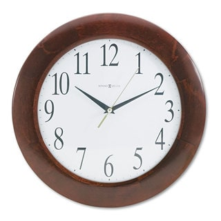 Howard Miller Corporate Wall Clock 12-3/4 inches Cherry