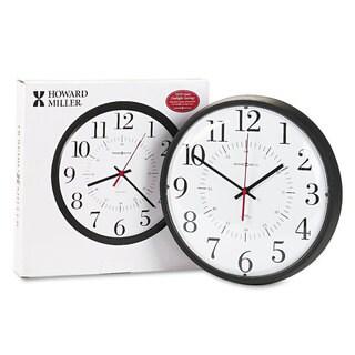 Howard Miller Alton Auto Daylight Savings Wall Clock 14-inch Black
